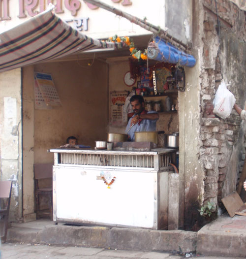 A stall selling tea