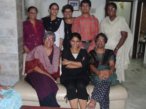 All the SHARE and MarketPlace-Mumbai staff at Noreen's house for dinner