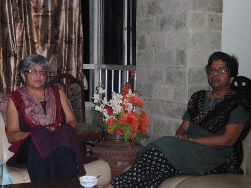 Pushpika & Lalita at Noreen's house