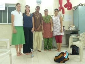 Ann, Jenni, Vidya, Prajakta and Nooreen