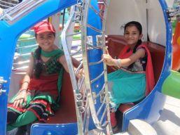 Members of the Armaan Club visit an amusement park