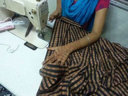 Folding the waistband