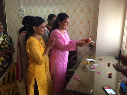 Diwali pooja Staff