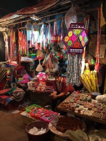 Shop selling Diwali decorations