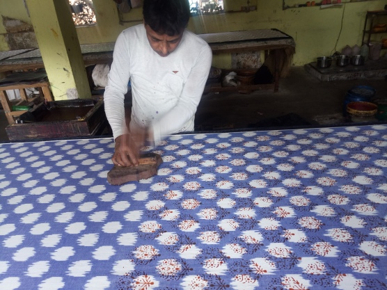 56A-03 First print on Ikat Fabric (3)