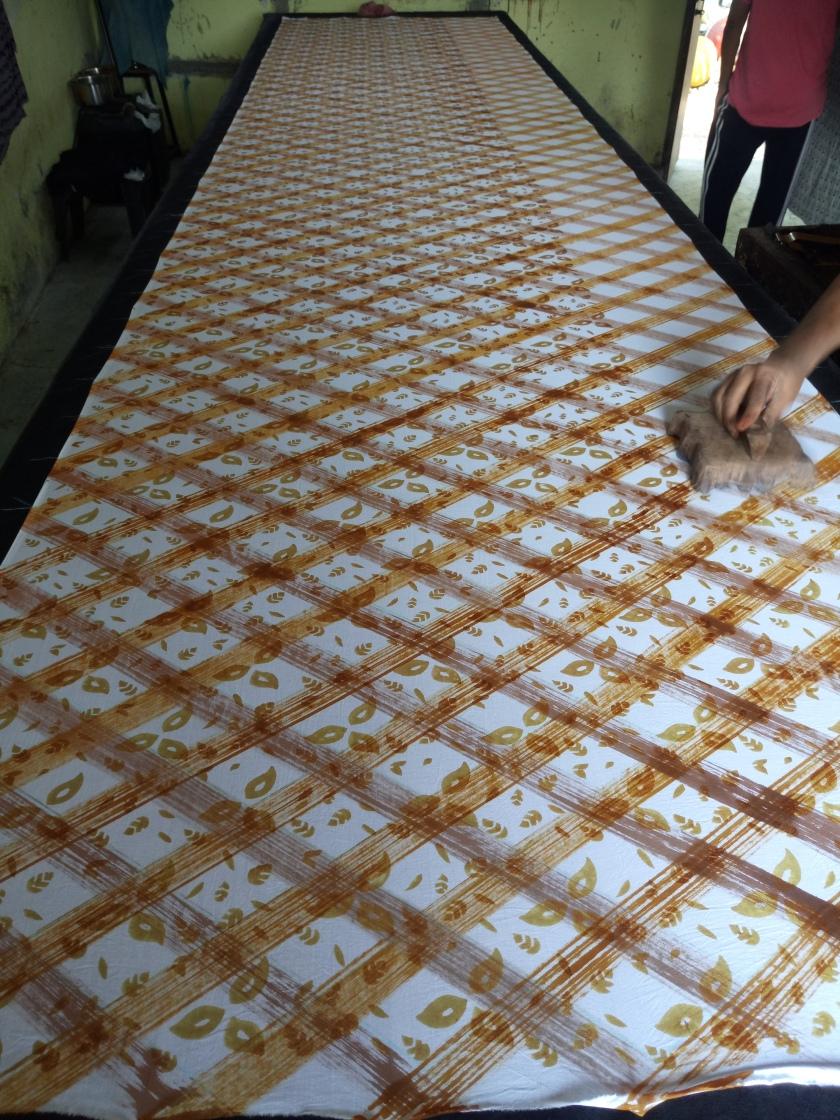 56C-07 Block print after 2 colours Hand paint (6)