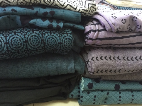 Block printing fashion fabrics—tencel, loop terry and quilted jersey