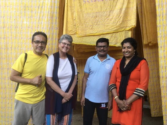Meeting the incredible couple who block prints and batiks Marketplace's fabrics.